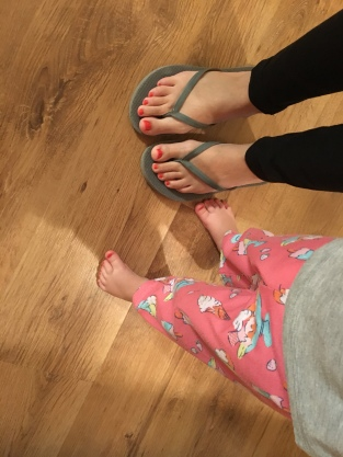 mommy and me toenails