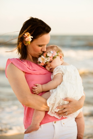 mommy and me beach photo