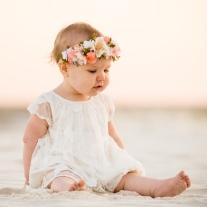 baby girl beach photo